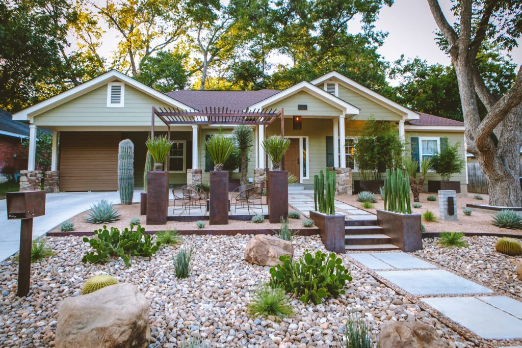 Casa Solstice custom landscape design by LUSH Greenscape Design in New Braunfels, TX