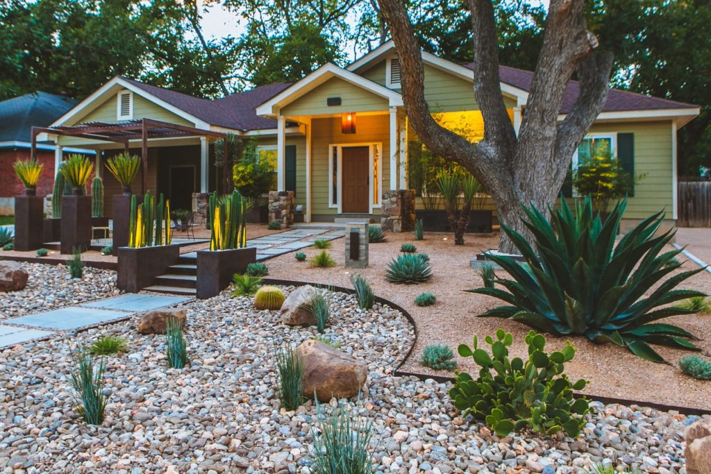 Casa Solstice custom landscape design by LUSH Greenscape Design in New Braunfels, TX