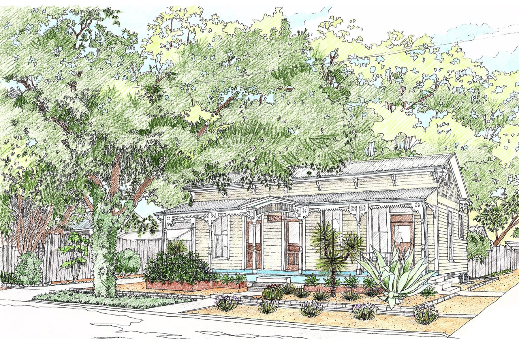 architectural landscape design rendering drawing