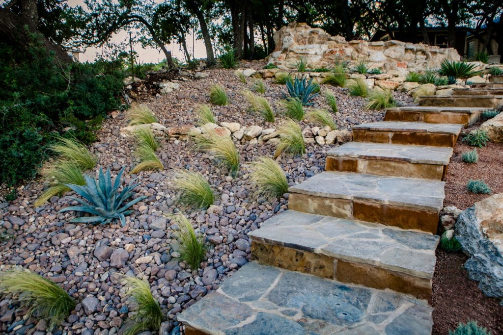 Kings Point custom landscape design by LUSH Greenscape Design in Canyon Lake, TX