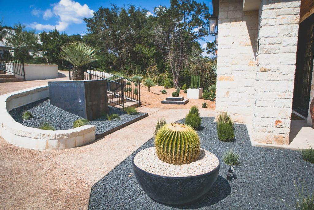 Persimmon Trail custom landscape design by LUSH Greenscape Design in New Braunfels, TX