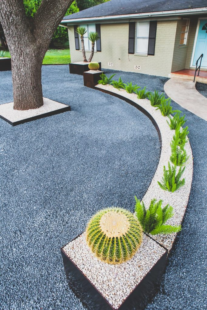 Wagner Residence custom landscape design by LUSH Greenscape Design in New Braunfels, TX