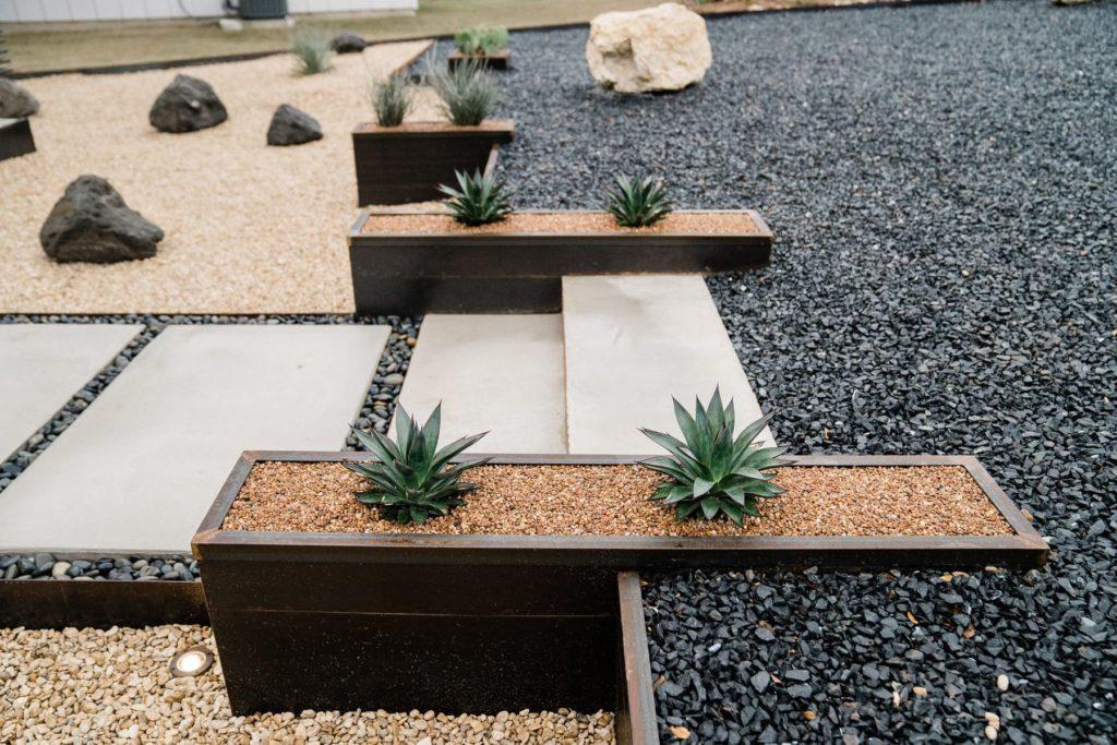 Winkler Residence landscape design project by LUSH GreenScape Design in San Marcos, TX