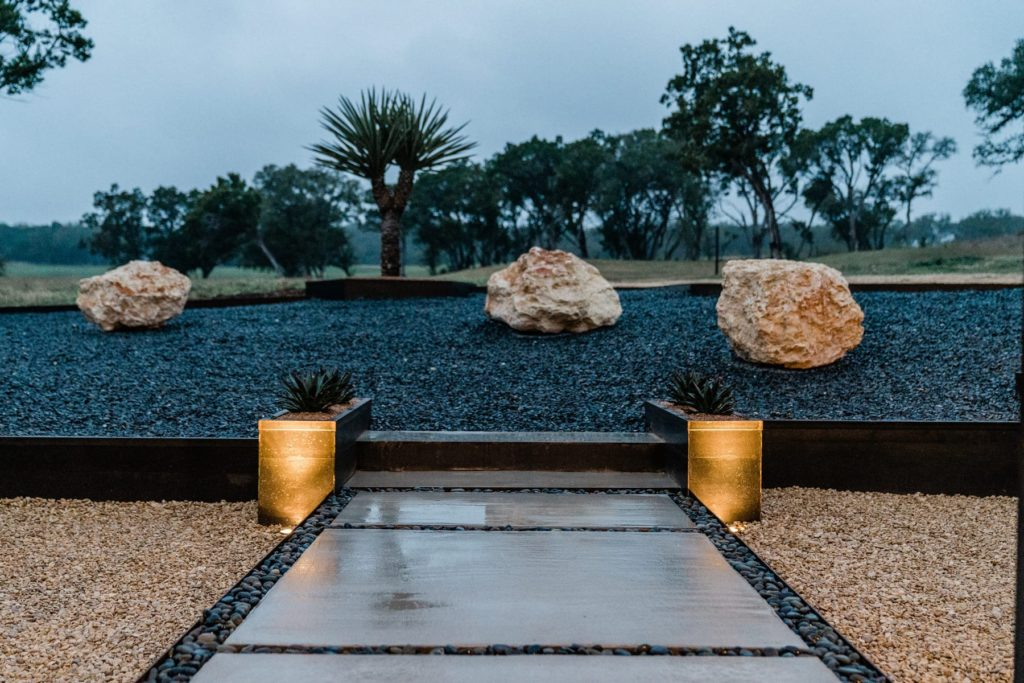 Winkler Residence landscape design project by LUSH GreenScape Design in San Marcos, TX
