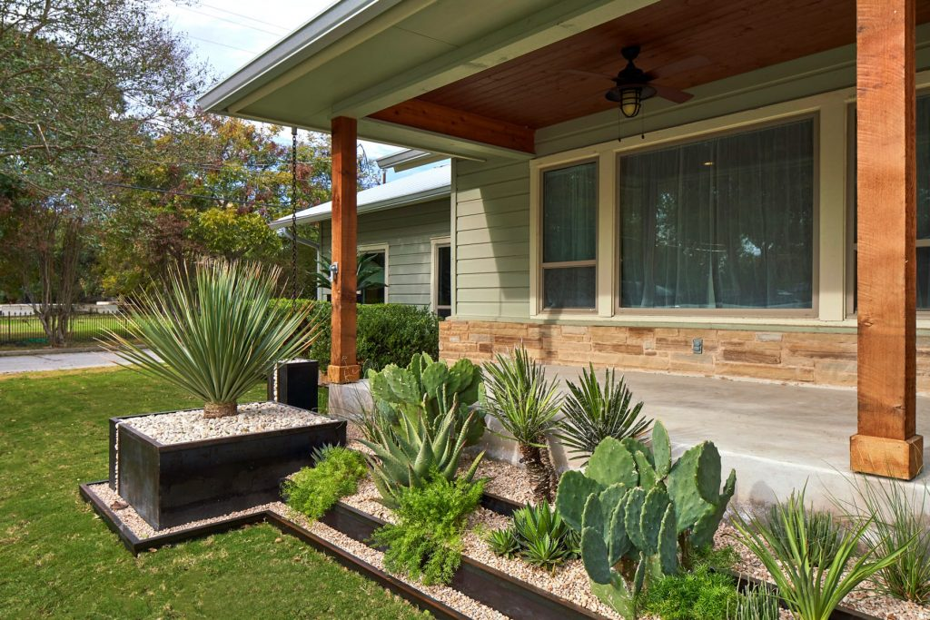 Magazine Avenue landscape design project by LUSH GreenScape Design in New Braunfels, TX