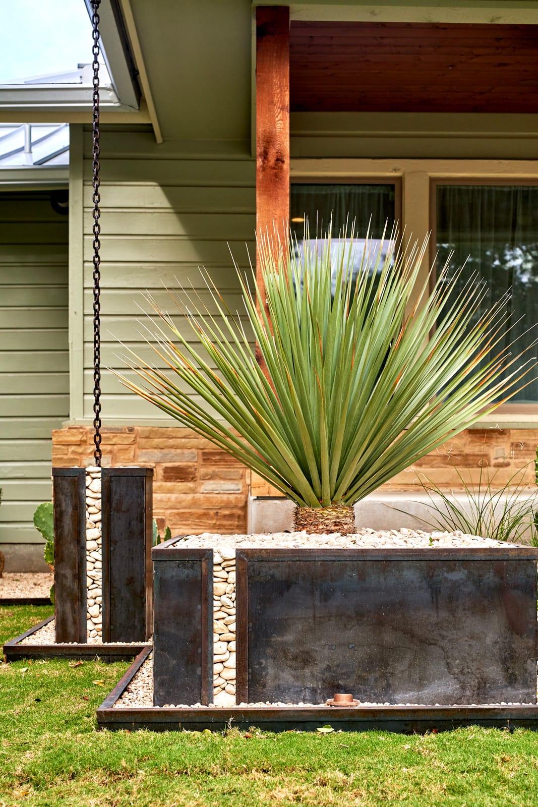 Magazine Avenue landscape design project by LUSH GreenScape Design in New Braunfels, TX