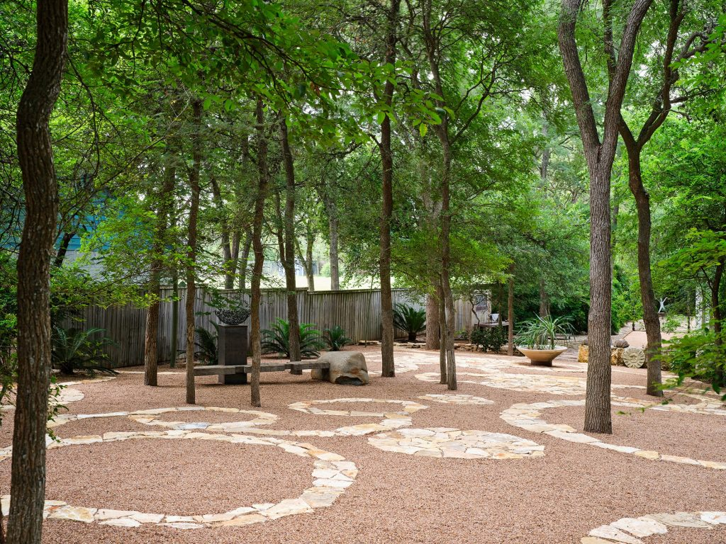 Laman Residence sustainable landscape design in San Marcos, TX by LUSH GreenScape Design