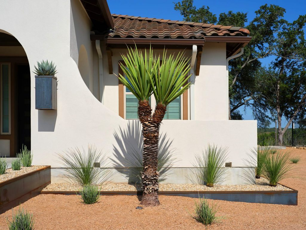 Saurenman-Wise Residence sustainable landscape design in San Marcos, TX by LUSH GreenScape Design