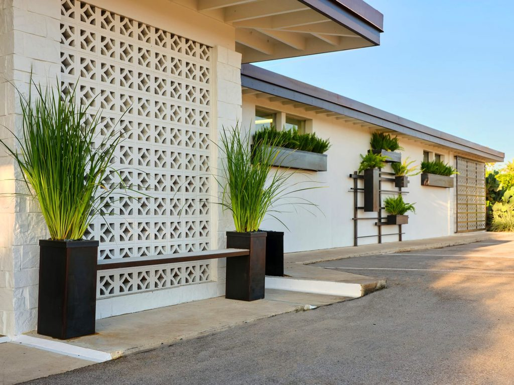 Tickle Blagg Animal Hospital sustainable landscape design in San Marcos, TX by LUSH GreenScape Design