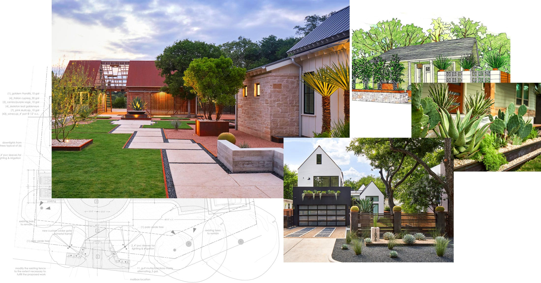 Lush GreenScape Design sustainable landscape design build collage image